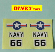 Dinky Sea King helicopter glossy paper decal set