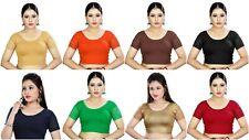 Designer Saree Blouse Cotton Lycra Readymade Sari Blouse Choli Hosiery Blouse SS