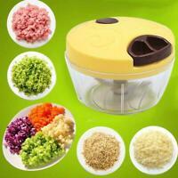 Manual Fruit Vegetable Chopper Mincer Hand Pull Food Grinder AU Kitchen N8W4