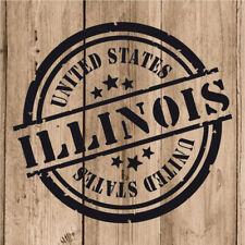 Vinilo de Corte Illinois Pegatina Illinois USA United States 10 cm Adhesivo Moto