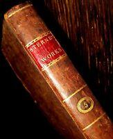 1805 HARRISBURG IMPRINT American FINE BINDING Rare WYETH Laurence Sterne NOVEL