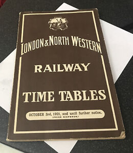 Reprint London & North Western British Railway Time Tables Timetables 1921 Book