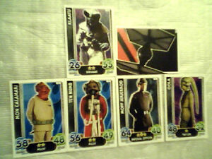 6 Topps Star Wars Force ATTAX Cards No's: 23, 32, 37, 58, 70 and 160 FREE UK P&P