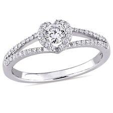 Amour 2/5 CT TW Diamond Split Shank Engagement Ring in 14k White Gold