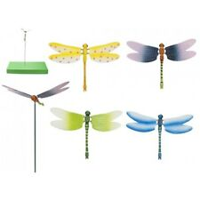 Flapping Dragonfly On 50cm Stake - Lapping Garden Animal Stick Ornament Novelty