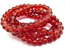 Red Glass Round Beads 6mm One Strand (Approx 145 Beads) P00116XF