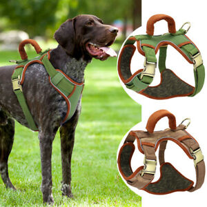 Large Dog Harness No Pull Adjustable Reflective Padded Vest With Handle Labrador