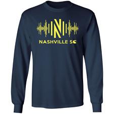 Men's Nashville SC 2020 Long Sleeve Navy T-Shirt S-5XL