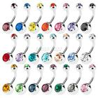 12pcs Surgical Steel Belly Button Rings Navel Dangle Bar Body Piercing Barbell