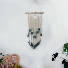 Green Wall Tapestry Bohemian Art Macrame Woven Hanging Backdrop Wedding Party