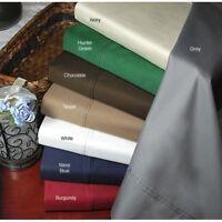 3 PCs Duvet Set 1200 Thread Count Egyptian Cotton AU Super King Solid Colors