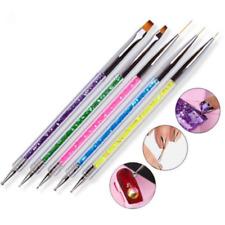 Luxury 5pcs/set Nail Art Brush Pen Sequins Acrylic Handle UV Gel Polish Drawing