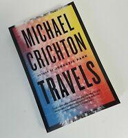 Michael Crichton Travels Paperback Book Memoir Autobiography NEW W/Damaged Page