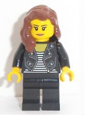 Lego Rocker Girl Minifig & Red Brown Hair x 1 HAIR CHOICE AVAILABLE SEE PICTURES