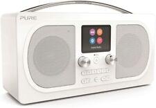 More details for pure evoke h6 prestige portabel dab fm alarm bluetooth streaming radio white