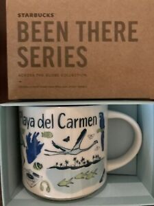Starbucks Coffee Been There Series 14oz Mug PLAYA DEL CARMEN Mexico Cup w/SKU