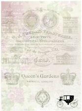 A/4 Papel Scrapbook Queen's Jardines