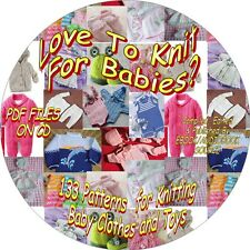 LOVE TO KNIT FOR BABY? - 133 PATTERNS - CLOTHES, TOYS - PDF FILES - ON CD