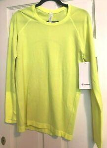 Lululemon Swiftly Long Sleeve Shirt Neon NWT Size 10