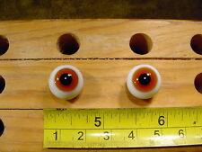 967 un par vintage esférico masivo muñeca cristal ojo alambre círculo de 13 mm
