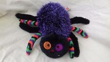 Keel Toys Soft Toy Black/purple Halloween? Spider 25cm Excellent gS