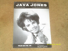 Donna Lynn sheet music Java Jones (co-writ. Allen Toussaint) '64 3 pp. Vg+ shape