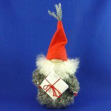 "Sweden Ellerbergs Wood Elf Tomte Nisse Christmas Figurine w/ Present Folk Art 7"""