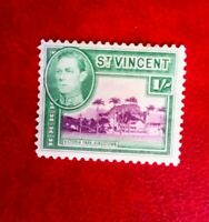 KING GEORGE V1  ST VINCENT POSTAGE STAMP MINT HINGED 1/-