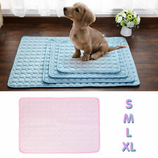 1pcs Pet Dog Cat Cool Mat Self Cooling Pad Bed Mattress Heat Relief Non-Toxic UK