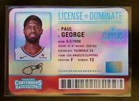 2019-20 Contenders PAUL GEORGE Case Hit! License to Drive L.A. Clippers all star