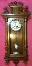 Antique German R/A Wall Clock 8-Day Time & Strike Flugelrad Trademark C.1900