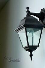 Schwarze Außen Wandleuchte Wandlampe Laterne Außenleuchten Außenlampen Leuchten