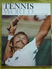 TENNIS WORLD / 1973 MARCH / SUNSHINE CUP AND ORANGE BOWL