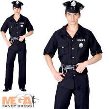 USA Police Man Terminator New York Cop Fancy Dress Adult Uniform Mens Costume