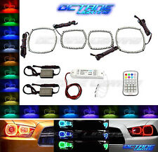 2011-14 Dodge Charger Multi-Color Changing Shift LED RGB Headlight Halo Ring Set