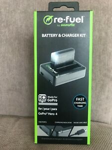 Re-fuel by Digipower, Battery & Charger Kit for GoPro Hero 4
