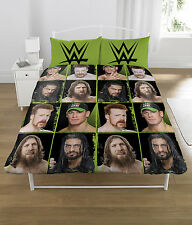Edition Superstars WWE Block Polycotton Double Bedding Duvet Cover Set