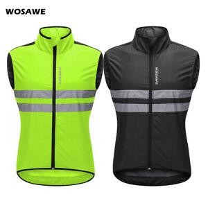 Windproof Cycling Vest Reflective Men MTB Bike Racing Gilet Hi Vis Sports Tops
