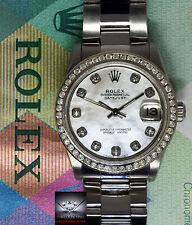 Rolex Datejust Stainless Steel MOP Diamond Dial/Bezel 31mm Ladies Watch 78240