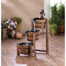NEW Apple Barrel Cascading Fountain Water Patio Outdoor Three Teir Decor