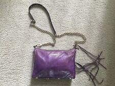 Rebecca Minkoff purple Leather Cross Body Bag with Gold Hardware
