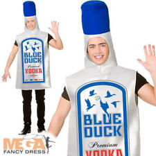 Blue Duck Vodka Bottle Adult Fancy Dress Mens Alchohol Drink Stag Party Costume