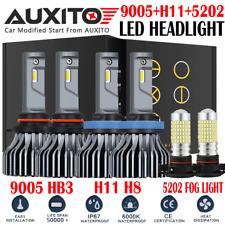 H11 9005 LED Headlight Hi/low +5202 Fog Light For 2007-2015 Chevy Silverado 1500