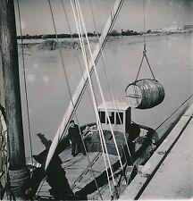 TONNAY c. 1950 -  Chargement Fût de Cognac Gabarre Charente-Maritime - Div 10568