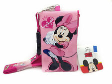 Disney Minnie Mouse Lanyard Fastpass ID Ticket Holder with Detachable Coin Purse