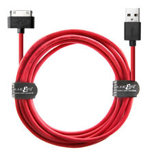 JuicEBitz® USB Charging 20AWG Charger Cable Lead for iPad 3 2 1 iPhone 4S 4 iPod