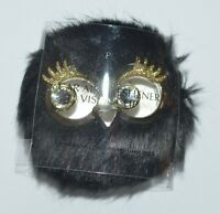 BATH & BODY WORKS BLACK FUZZY OWL SCENTPORTABLE HOLDER CAR VISOR CLIP FRESHENER
