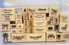 Stampin Up SWAGS SPRAYS & STUFF wood mount stamps boughs bow sprays N Stuff