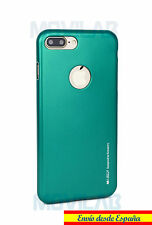 Funda gran calidad Mercury Goospery gel/TPU Apple Iphone 7 Plus verde metalizado