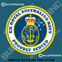 EX AUSTRALIAN NAVY Decal Sticker Retro Vintage Proudly Served  Patriotic Decals